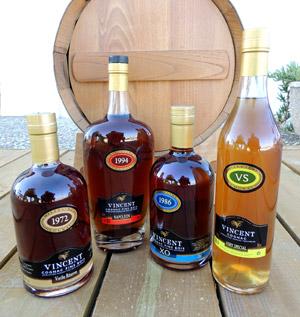 Les Cognacs Vignoble Vincent