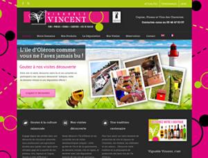 nouveau site internet Vignoble Vincent