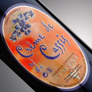 Liqueur au cognac Vignoble Vincent aromatisée au cassis