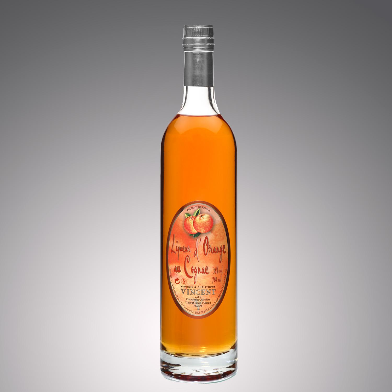 Liqueur au cognac Vignoble Vincent aromatisée orange