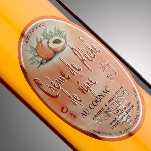 Liqueur au cognac Vignoble Vincent aromatisée pêche