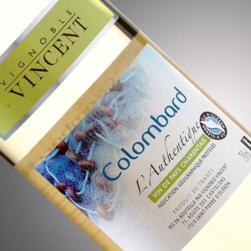 vin blanc l'authentique colombard Vignoble Vincent