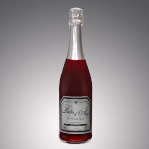 vin pétillant bulles d'ange rouge