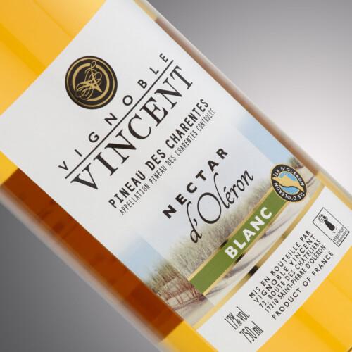 PINEAU NECTAR BLANC 0,75 l Vignoble Vincent