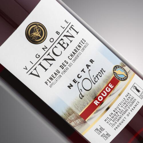 PINEAU NECTAR ROUGE-0,75 l Vignoble Vincent
