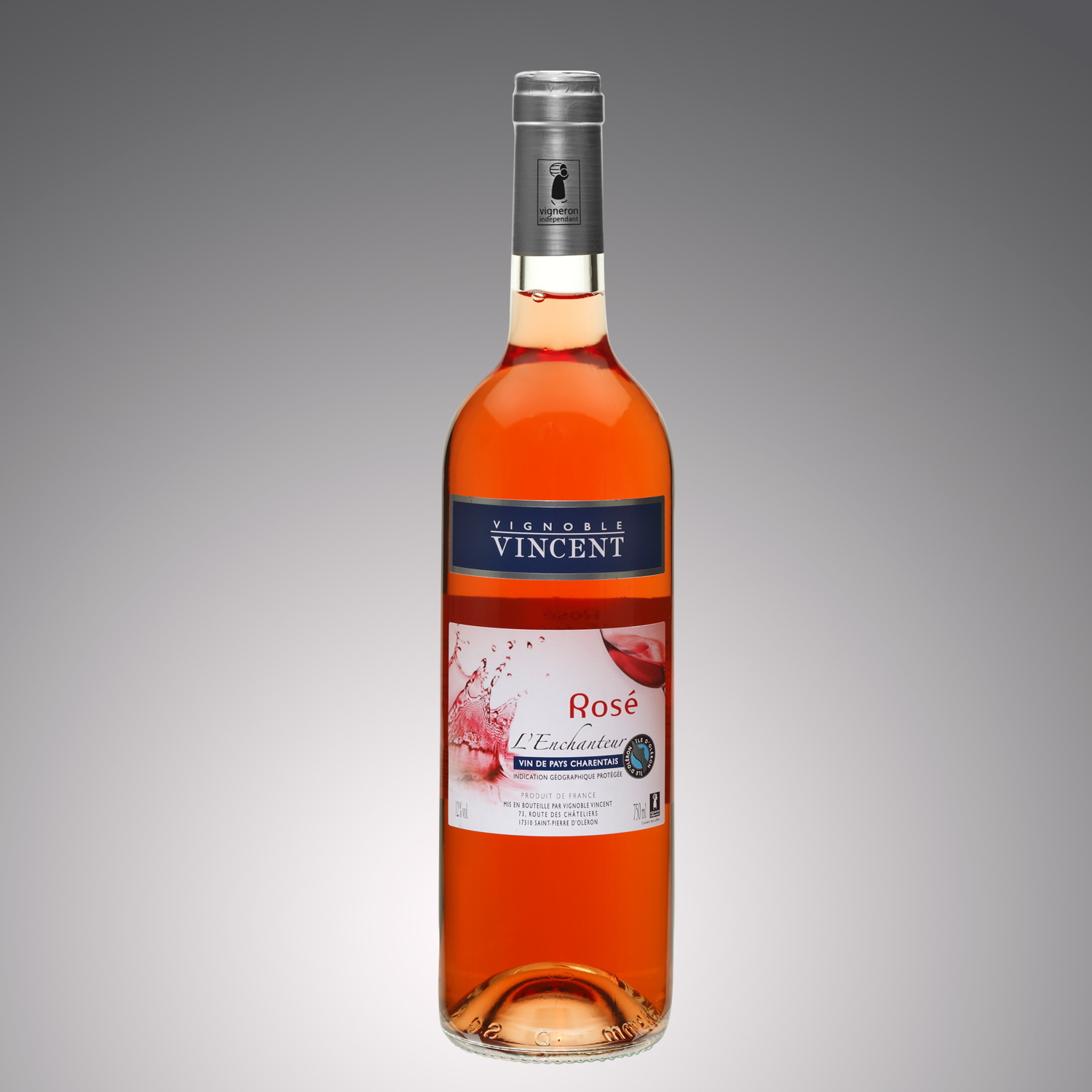 vin rosé l'enchanteur Vignoble Vincent