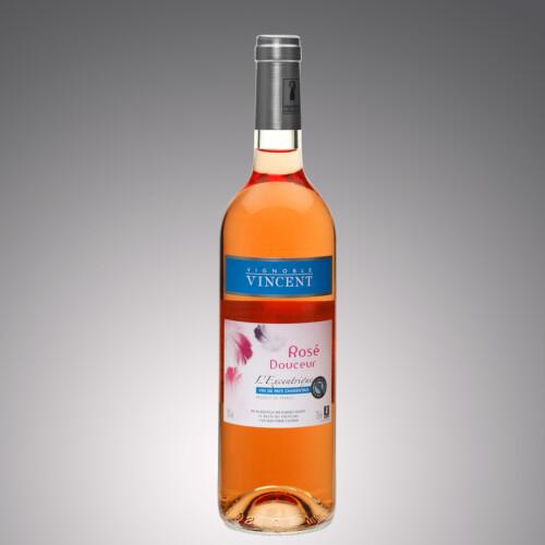 vin rosé douceur l'excentrique Vignoble Vincent