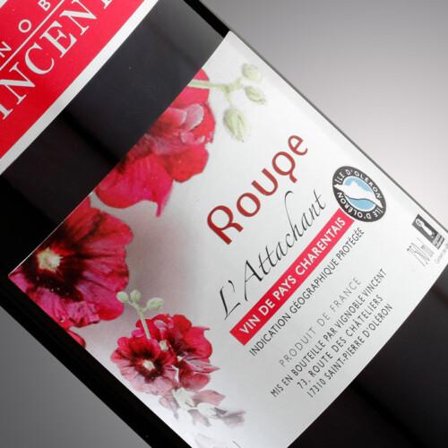 vin rouge l'attachant Vignoble Vincent
