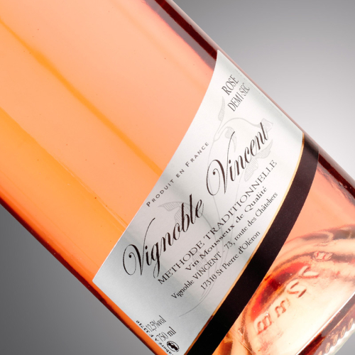 vin pétillant tradition rosé demi-sec Vignoble-Vincent