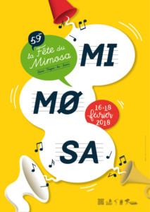 affiche fête du mimosa 2018