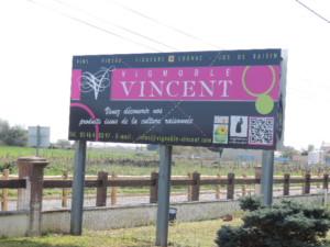 panneau Vignoble Vincent