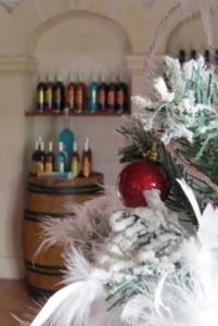 magasin Vignoble Vincent décoré pour noël