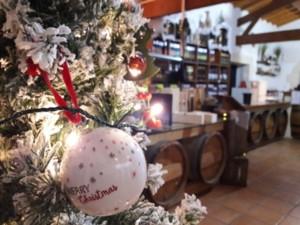 décoration de noël au magasin vignoble vincent