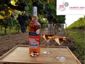 Vignoble vincent rosé enchanteur saveur d'argent