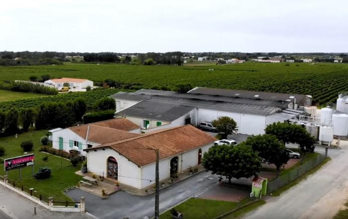 prise de vue en drone du Vignoble Vincent
